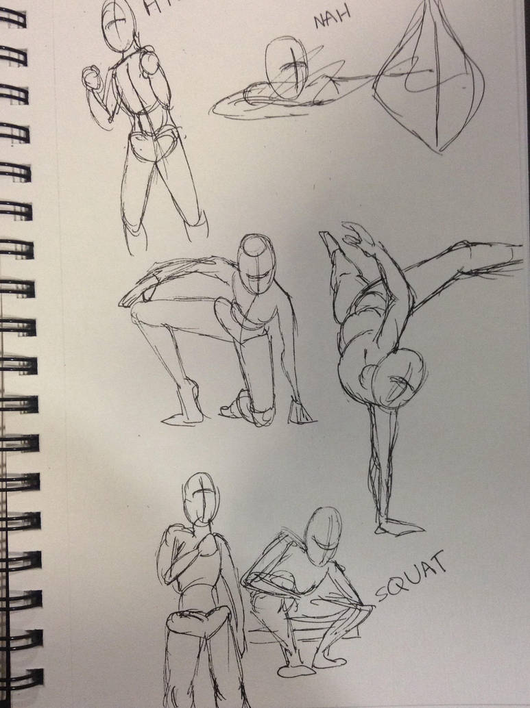Action Poses by Breathing0Pines