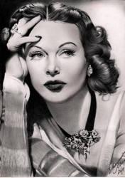 Hedy Lamarr by dilhermandodidi