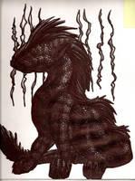 Ballpoint Dragon by nimirofox