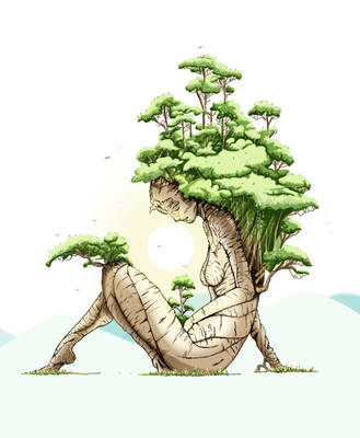 Girl bonsai by toromuco
