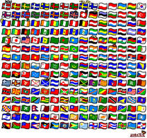 225 world flags by Lobsterprince