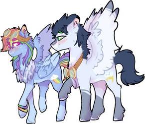 mlp Rainbow dash X Soarin by DashkaTortik12222222