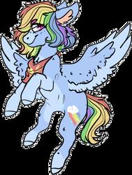 Mlp Rainbow Dash redesign by DashkaTortik12222222