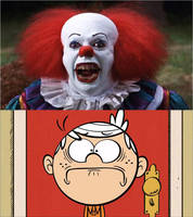 pennywise Scared Lincoln Loud by xxphilipshow547xx