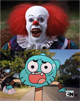 pennywise Scared Gumball by xxphilipshow547xx