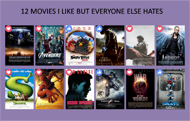 12 Movies I like/Love but everyone else Hates by xxphilipshow547xx