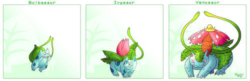 Bulbasaur Line by Arylett-Charnoa