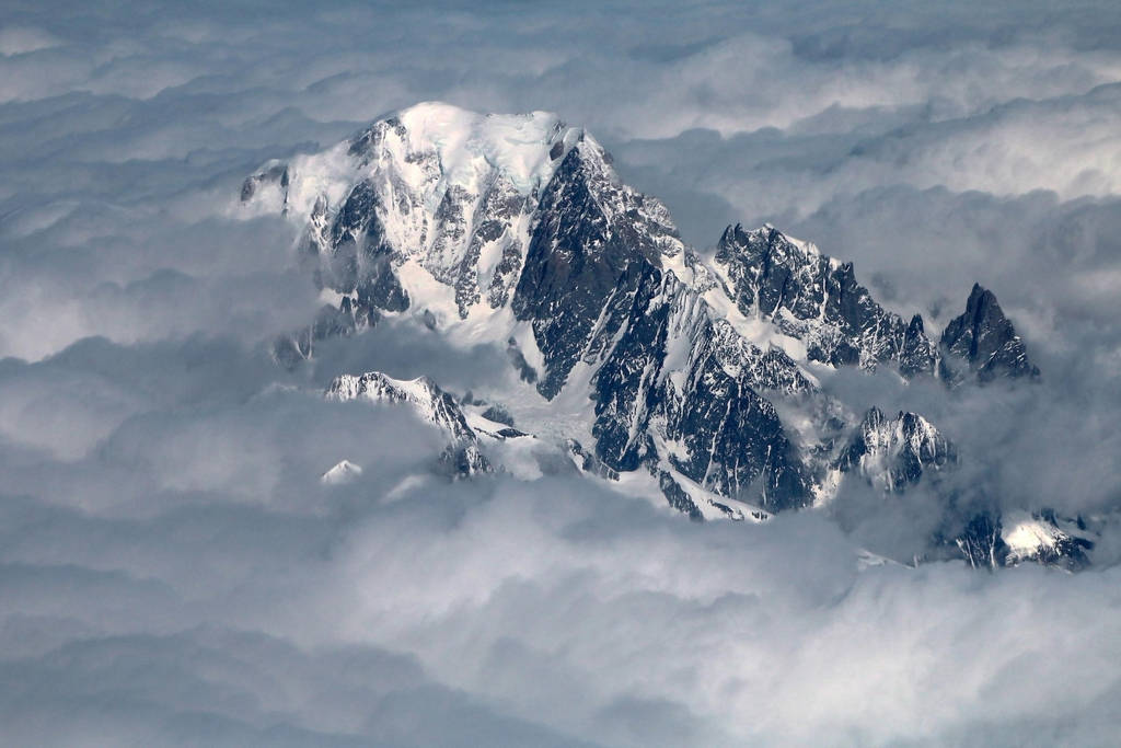Mont Blanc Seen From Heaven by organicvision