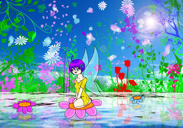 Fairy Floating Downstream by Reitanna-Seishin