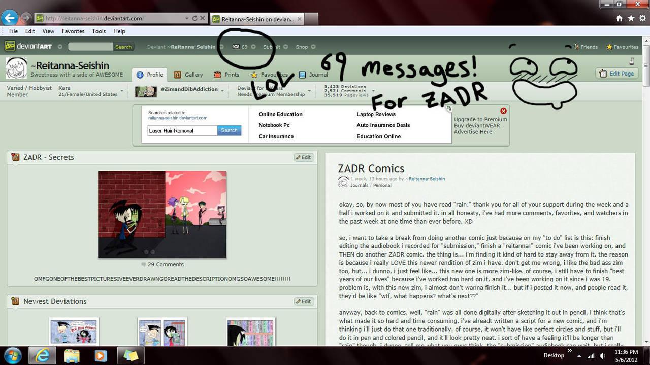 69 Messages by Reitanna-Seishin