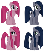 Pinkie and Minkie Color Swap by Reitanna-Seishin