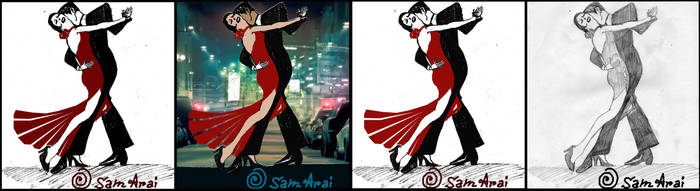 Tango - Test Drawing for a Fashion Designer Artist by Tasty-muffin