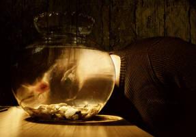 a cyclop and a goldfish by ni-ki-tas