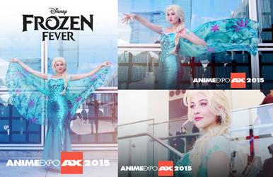 AX15 - Elsa FROZEN FEVER Cosplay by JoceyDraws