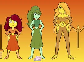 Steven Universe: Amber, Jade and Citrine by november123456789066