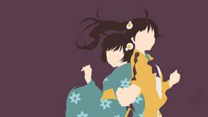 Monogatari Series - Fire Sisters by Krukmeister
