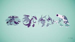 Gen I Starters Mega Evolutions by Krukmeister