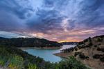 Dramatic Sunset Over Lake Berryessa, CA by gidatola