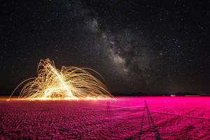 Steel Wool Under the Milky Way Pt. 3 by gidatola