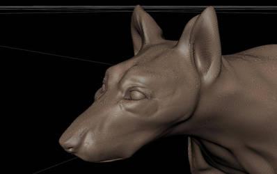 Dog head sketch by mishkosiela