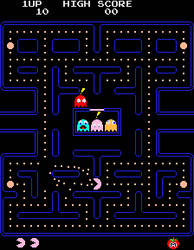 Kirby in the Original Pac-Man by SuperStarfy2002