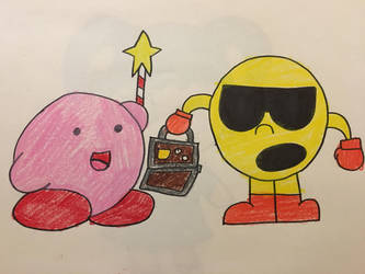 Here comes Pac n Kirb by SuperStarfy2002