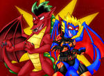 Commish - Double Dragons by shaloneSK