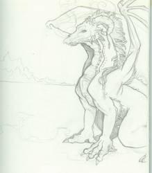 Skull Dragon by Bluefaerie87