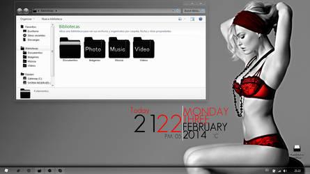 Minimal Girl Windows 7 by pastito07