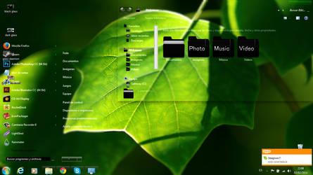 Green Glass Windows 7 by pastito07