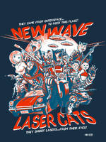 new wave laser cats by gimetzco