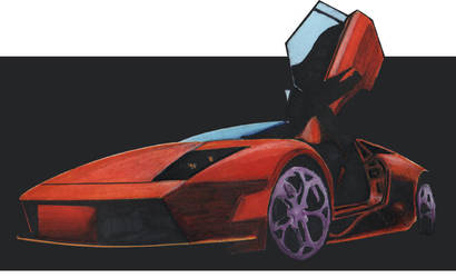 Car Rendering with markers by psuedo-guru