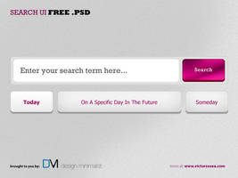 Search UI Free PSD by victorsosea