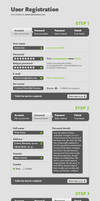 User Registration Free PSD by victorsosea