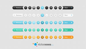 5 Pagination Styles Free PSD by victorsosea