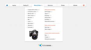 Mega Menu Navigation Free PSD by victorsosea