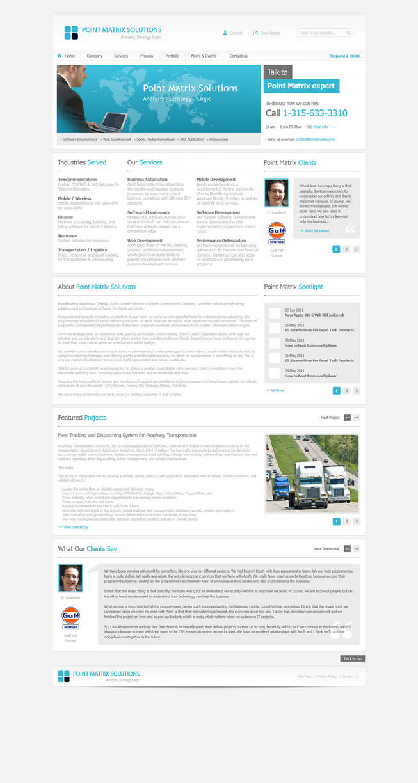 Business Website Free PSD by victorsosea