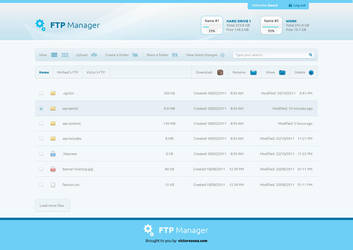 FTP Manager Free PSD by victorsosea