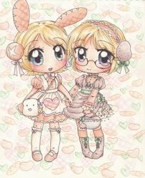 Bread Bunny and Potato Girl by bunnyb133