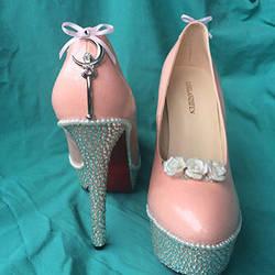 Custom Sailor Moon inspired shoes  by Kitten-Skull