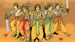 Mahabharata - The Pandava Rangers by VachalenXEON