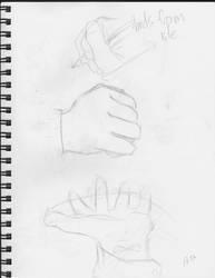 Hands Sketches. by dftba42