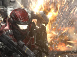 Halo Reach: Keep Fighting by Vermillion221