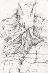 Sketch - Fight by Aquabienie