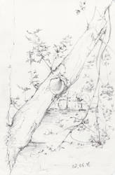 Sketch - Tree by Aquabienie