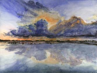 Sunset Ocean by Aquabienie