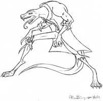 Lizard Man by blabberabbit