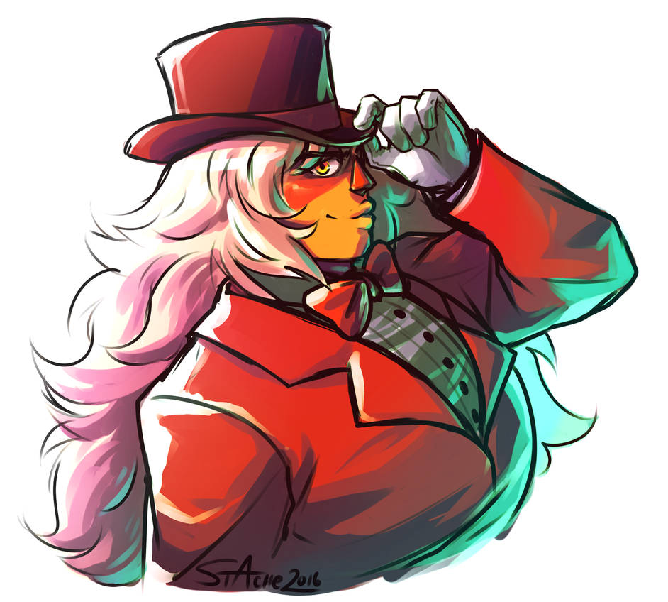 I don't digitally paint at all, but I tried to give it a shot here lol I had to hide a lot of mistakes with a bunch of layers and stuff, but SHRUGS. Jasper in that suit gave me so MUCH STRENG...
