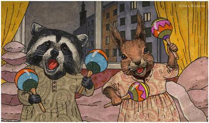 Pajama Party by Helenakotova