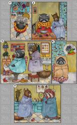 How to paint raccoon by Helenakotova